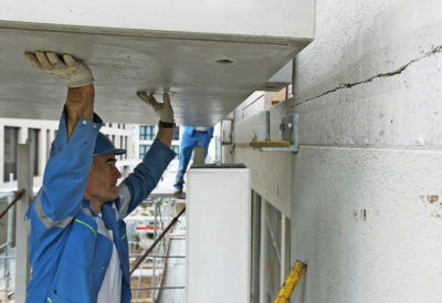 Einfahren der zweiten Balkonplatte