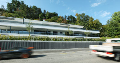 FAVERIT® Lärmschutzelemente Wohnüberbauung Baslerstrasse, Brugg AG