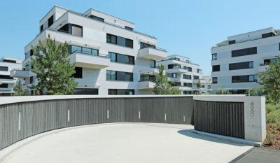 FAVERIT® Lärmschutzelemente Wohnüberbauung Sonnenhof, Regensdorf ZH