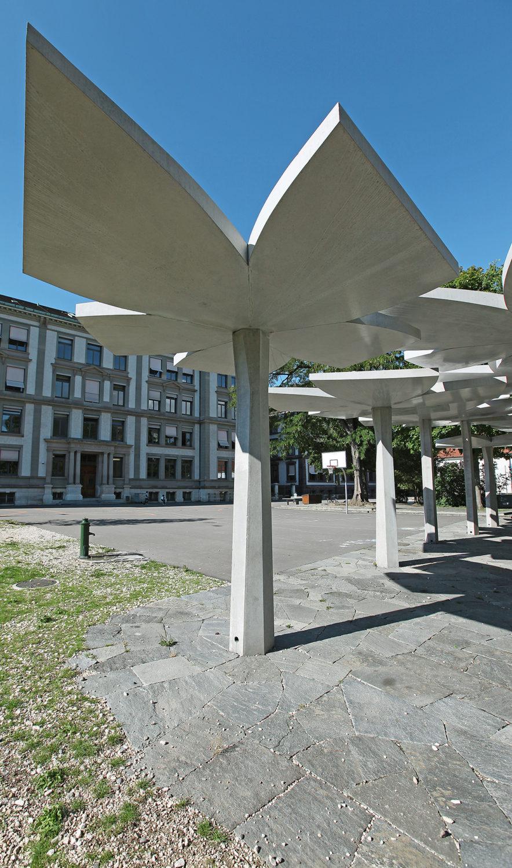 Gestaltungselemente Schulhaus St. Johann, Basel BS