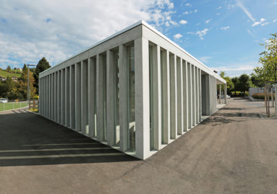 Parkhaus und Fahrradunterstand, Bahnhof Wattwil SG