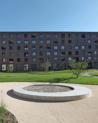 Gestaltungselement Wohnhof Volta West, Basel BS