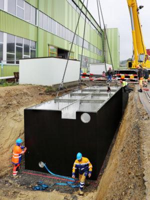 Betonbecken für Reinigungs- und Filtersystem, Bohler Rickenbach LU